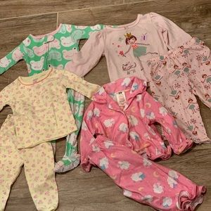 Girls 12 Month Pajamas Bundle